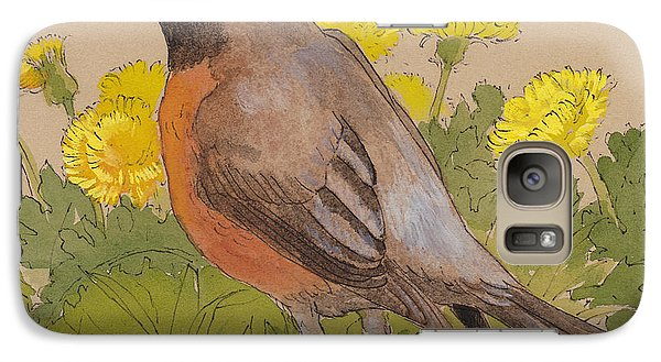 Robin In The Dandelions Galaxy S7 Case by Tracie Thompson