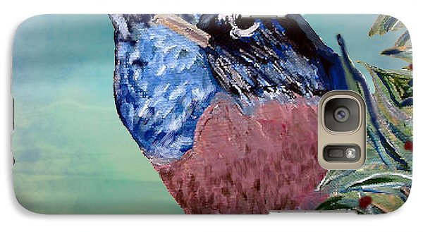 Galaxy Case featuring the digital art Robin Mixed Media by Barbara Giordano
