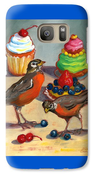 Galaxy Case featuring the painting Robins And Desserts by Susan Thomas