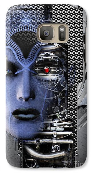 Galaxy Case featuring the digital art Robotic Future B by Shadowlea Is