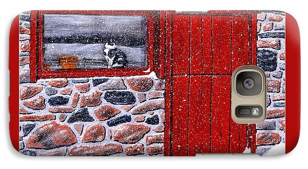 Galaxy Case featuring the painting Rob's Barn by Ron Haist