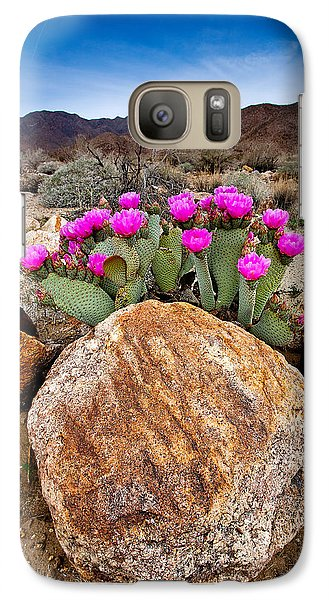 Desert Galaxy S7 Case - Rock And Beavertail by Peter Tellone