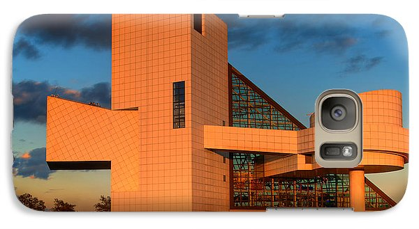 Galaxy Case featuring the photograph Rock And Roll Hall Of Fame by Jerry Fornarotto