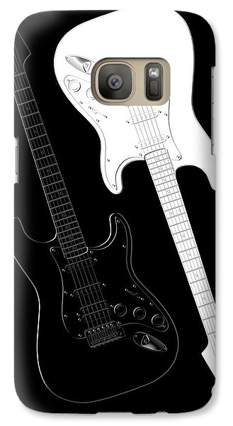 Music Galaxy S7 Case - Rock And Roll Yin Yang by Mike McGlothlen