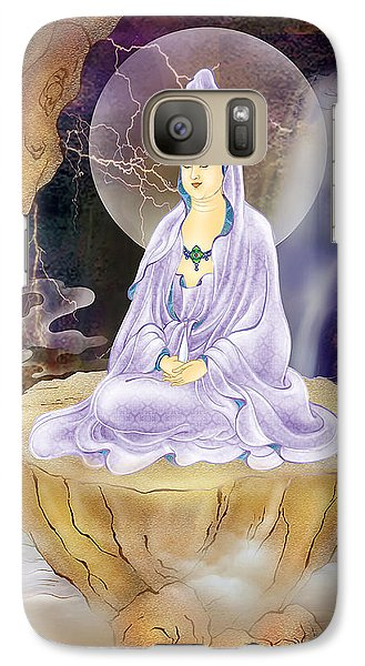 Galaxy Case featuring the photograph Rock Cave Avalokitesvara  by Lanjee Chee