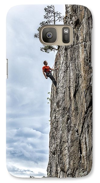 Galaxy Case featuring the photograph Rock Climber by Carsten Reisinger