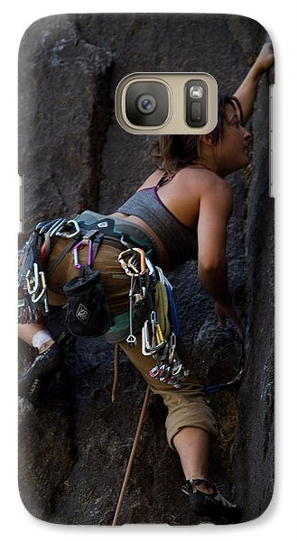 Galaxy Case featuring the photograph Rock Climbing by Brian Williamson