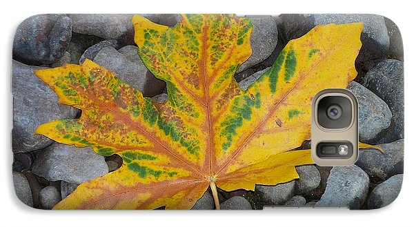 Galaxy Case featuring the photograph Rock Creek Leaf by Chalet Roome-Rigdon