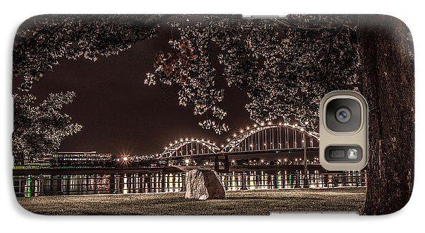 Galaxy Case featuring the photograph Rock In Leclaire Park by Ray Congrove