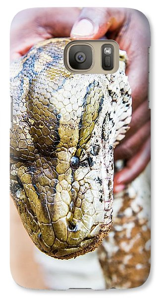 Rock Python Recovered From Poachers Galaxy S7 Case by Peter Chadwick