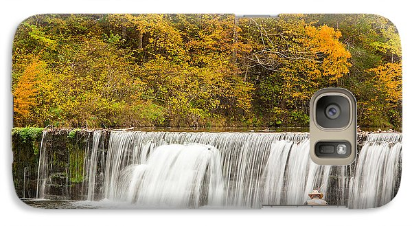 Galaxy Case featuring the photograph Rockbridge Fisherman by Steven Bateson