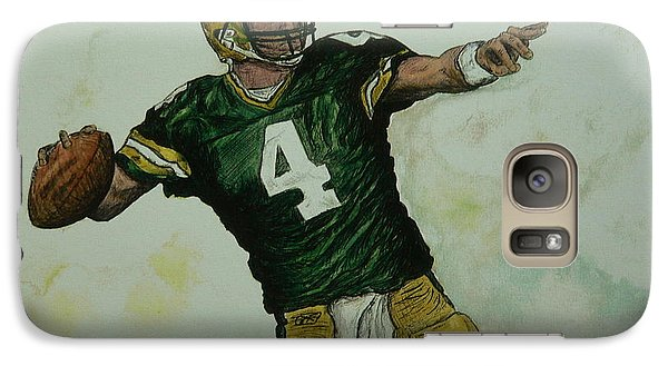 Galaxy Case featuring the painting Rocket Favre by Dan Wagner
