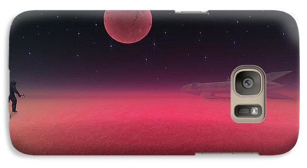 Galaxy Case featuring the painting Rocket Man by Michael Cleere