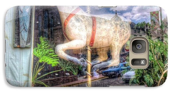 Galaxy Case featuring the photograph Rockey's Horse by Lanita Williams
