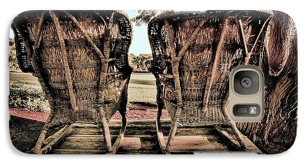 Galaxy Case featuring the photograph Rocking Chairs by Terry Garvin