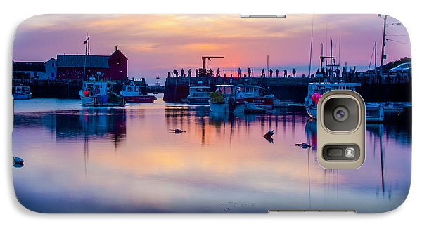 Galaxy Case featuring the photograph Rockport Harbor Sunrise Over Motif #1 by Jeff Folger