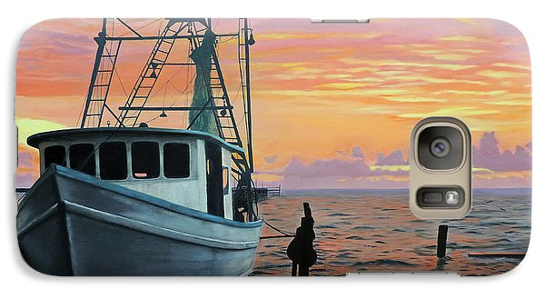 Galaxy Case featuring the painting Rockport Sunrise by Jimmie Bartlett
