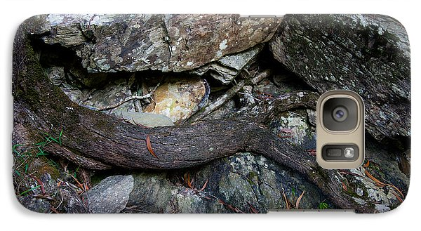 Galaxy Case featuring the photograph Rocks And Roots by Carole Hinding