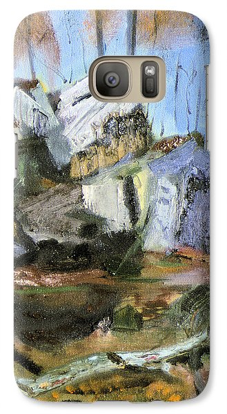 Galaxy Case featuring the painting Rocks At Kittatinny by Michael Daniels