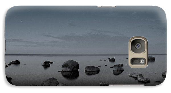 Galaxy Case featuring the photograph Rocks At Midnight by Alex Weinstein