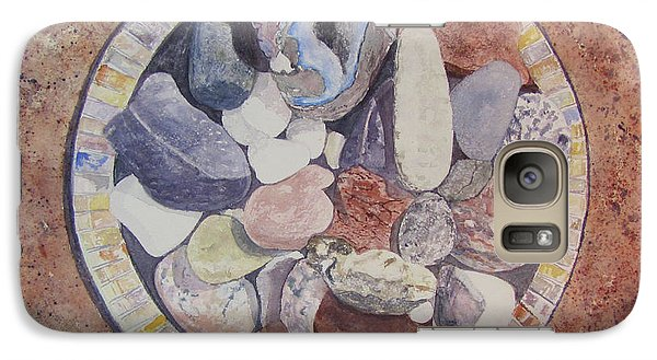 Galaxy Case featuring the painting Rocks by Carol Flagg