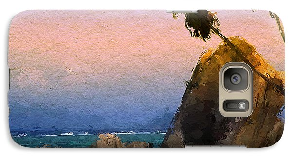 Galaxy Case featuring the painting Rocky Beach by Wayne Pascall