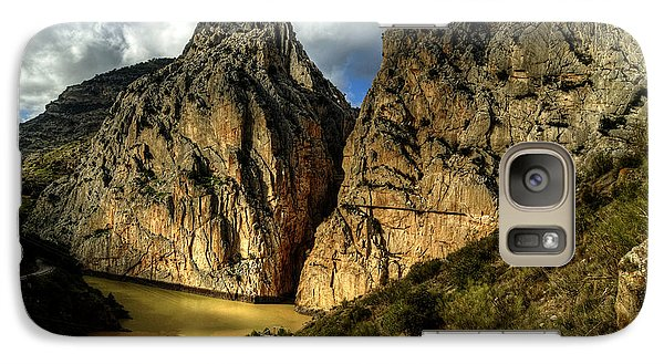 Galaxy Case featuring the photograph Rocky El Chorro In Andalusia by Julis Simo