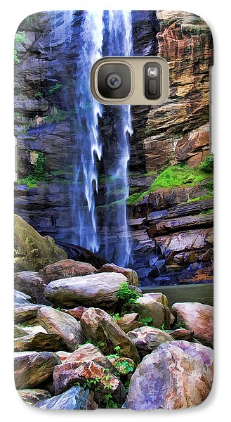 Galaxy Case featuring the photograph Rocky Falls by Kenny Francis