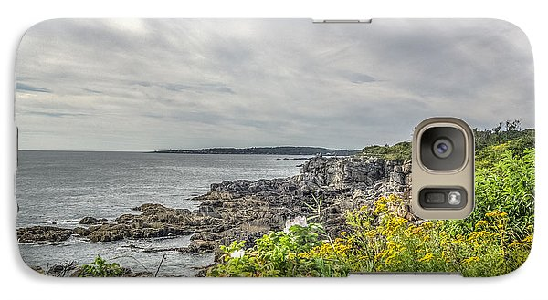 Galaxy Case featuring the photograph Rocky Maine Shoreline by Jane Luxton