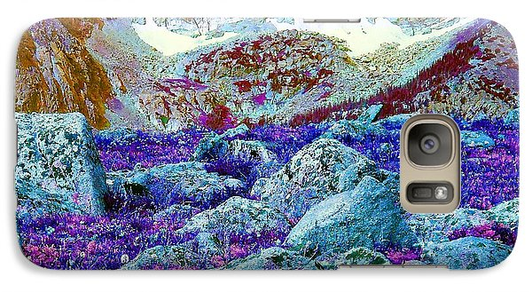 Galaxy Case featuring the photograph Rocky Mountain Boulders by Ann Johndro-Collins