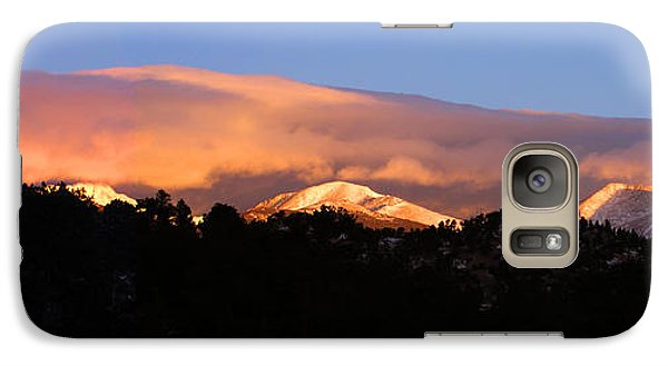 Galaxy Case featuring the photograph Rocky Mountain Sunrise by Craig T Burgwardt