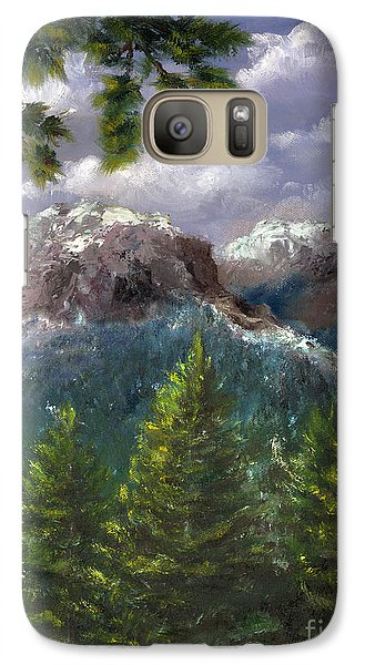 Galaxy Case featuring the painting Rocky Mountains National Park Colorado by Lenora  De Lude