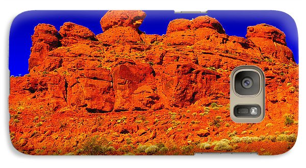 Galaxy Case featuring the photograph Rocky Outcrop by Mark Blauhoefer