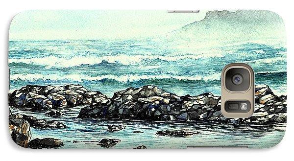 Galaxy Case featuring the painting Rocky Seashore by Heidi Kriel