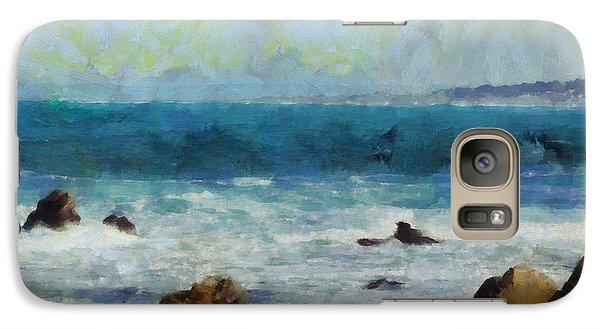 Galaxy Case featuring the digital art Rocky Seashore by Kai Saarto
