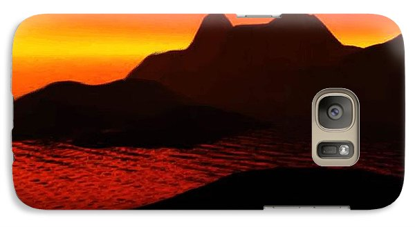 Galaxy Case featuring the digital art Rocky Sunset by P Dwain Morris
