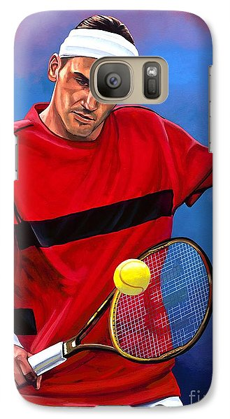 Roger Federer The Swiss Maestro Galaxy Case by Paul Meijering
