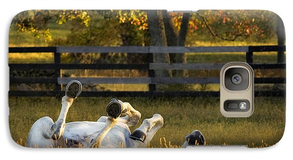 Galaxy Case featuring the photograph Roll In The Hay by Joan Davis