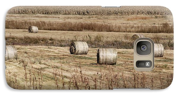 Galaxy Case featuring the photograph Roll On The Hay by Taschja Hattingh
