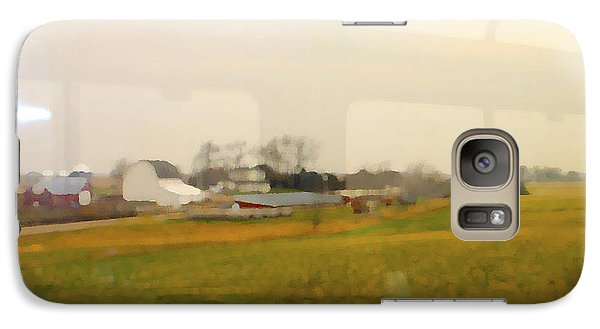 Galaxy Case featuring the photograph Rolling Past Farmland by Barbara Giordano
