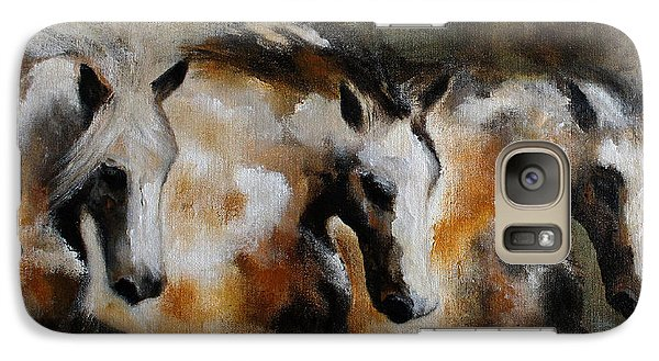 Galaxy Case featuring the painting Rolling Thunder by Barbie Batson