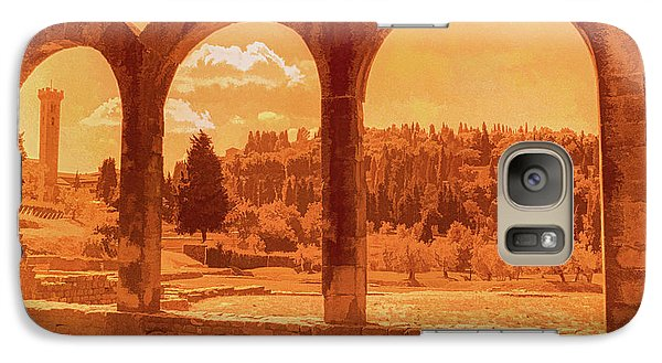 Galaxy Case featuring the photograph Roman Arches At Fiesole by Nigel Fletcher-Jones