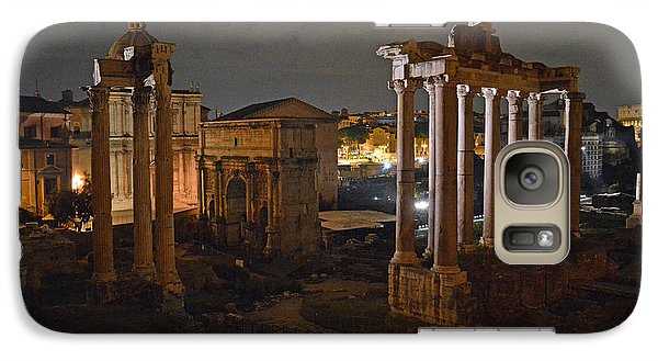 Galaxy Case featuring the photograph Roman Forum At Night 2 by Nancy Bradley