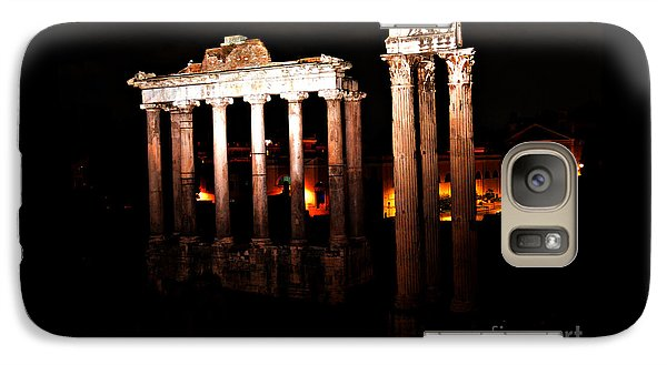 Galaxy Case featuring the photograph Roman Forum At Night by Nancy Bradley