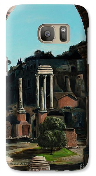 Galaxy Case featuring the painting Roman Forum by Nancy Bradley