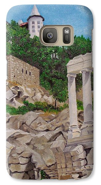 Galaxy Case featuring the painting Roman Stadium In Plovdiv by Nina Mitkova