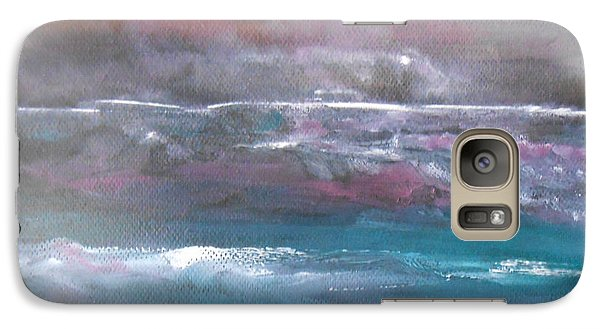 Galaxy Case featuring the painting Romancing The Moon by Jane  See