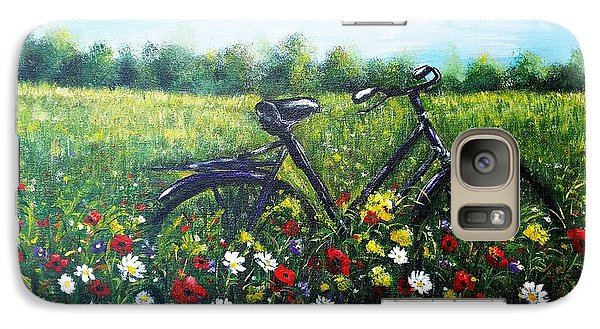 Galaxy Case featuring the painting Romantic Break by Vesna Martinjak