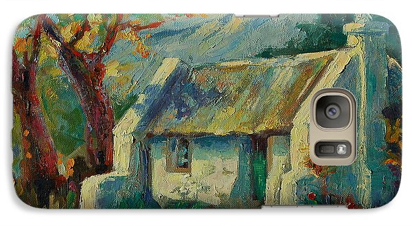 Galaxy Case featuring the painting Romantic Cape Cottage by Thomas Bertram POOLE