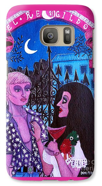 Galaxy Case featuring the painting Romantic Couple by Don Pedro De Gracia